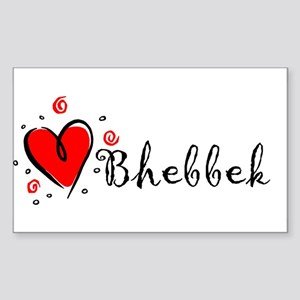 """I Love You"" [Syrian - To Fem Sticker (Rectangular"